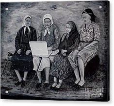 Computer Class Acrylic Print by Judy Kirouac