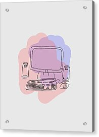 Computer Acrylic Print