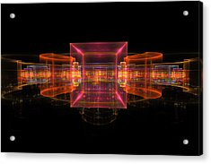 Computer Generated 3d Abstract Fractal Flame Modern Art Acrylic Print by Keith Webber Jr