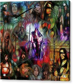 Conan The Barbarian Collage - Square Version Acrylic Print by John Robert Beck