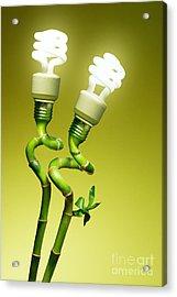 Conceptual Lamps Acrylic Print by Carlos Caetano
