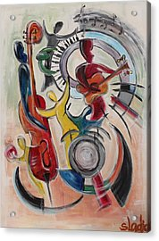 Acrylic Print featuring the painting Concert by Sladjana Lazarevic