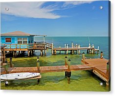 Conch Key Blue Cottage 3 Acrylic Print