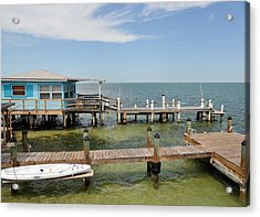 Conch Key Blue Cottage Acrylic Print