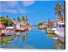 Conch Key Waterfront Living 3 Acrylic Print
