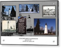 Concord Point Lighthouse Collage Acrylic Print