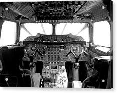 Concorde Cockpit Acrylic Print by Patrick  Flynn