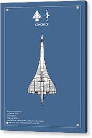 Concorde Acrylic Print by Mark Rogan