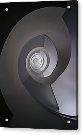 Concrete Abstract Spiral Staircase Acrylic Print by Jaroslaw Blaminsky