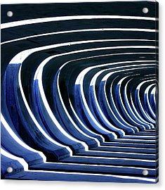Concrete Blue Acrylic Print by Bob Daalder