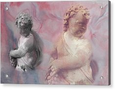Acrylic Print featuring the photograph Concrete Cherubs by Toni Hopper