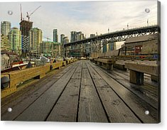 Condominium Buildings Along Granville Island Vancouver Bc Acrylic Print