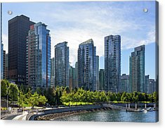 Condominium Waterfront Living In Vancouver Bc Acrylic Print by David Gn