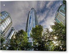 Condominiums Along Waterfront In Vancouver Bc Acrylic Print by David Gn