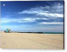 Coney Island Beach Acrylic Print