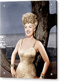 Coney Island, Betty Grable, 1943 Acrylic Print by Everett