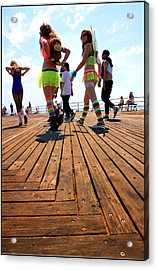 Coney Island Encounters Acrylic Print by Valentino Visentini