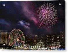 Coney Island Fireworks Acrylic Print