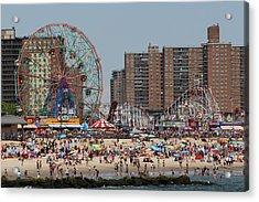 Coney Island Acrylic Print by Jessica Stiles