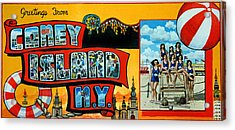 Coney Island New York Acrylic Print