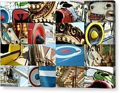 Coney Island Rides Acrylic Print