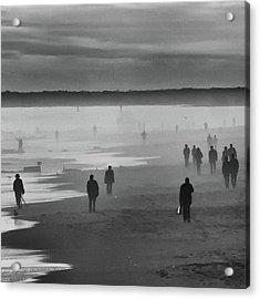 Coney Island Walkers Acrylic Print