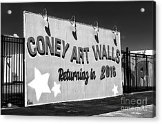 Coney Island Wall Art Returning In 2016 Acrylic Print by John Rizzuto