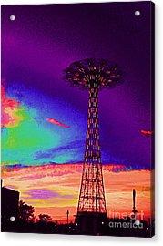 Coney Islands Parachute Jump Acrylic Print