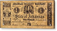 Confederate Banknote Acrylic Print by Granger