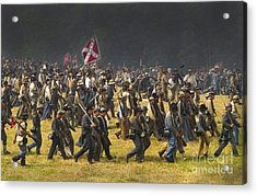 Confederate Charge At Gettysburg Acrylic Print by Paul W Faust -  Impressions of Light