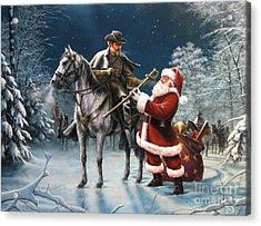 Confederate Christmas Acrylic Print by Dan  Nance