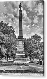 Confederate Dead Memorial Black And White Acrylic Print by JC Findley