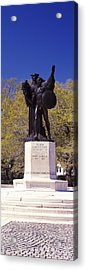 Confederate Defenders Statue In A Park Acrylic Print by Panoramic Images