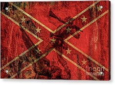 Confederate Flag And Mississippi Monument Acrylic Print