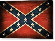 Confederate Flag Acrylic Print