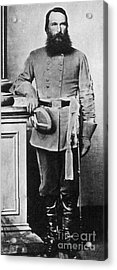 Confederate General James Old War Horse Acrylic Print by Photo Researchers