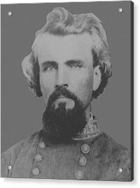 Confederate General Nathan Forrest Acrylic Print by War Is Hell Store