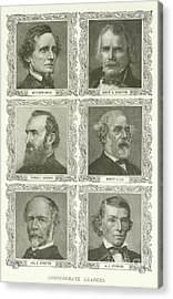 Confederate Leaders Acrylic Print by American School