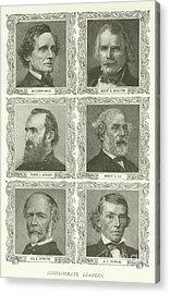 Confederate Leaders Acrylic Print by American School