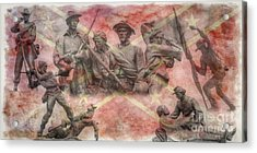 Confederate Monuments On The Gettysburg Battlefield Acrylic Print