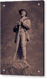 Confederate Statue  Standing Guard Acrylic Print