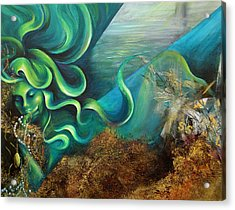 Acrylic Print featuring the painting Confessions Of A Mermaid by Dina Dargo