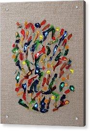 Acrylic Print featuring the painting Confetti by Deborah Boyd