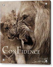 Confidence Acrylic Print by Christine Sponchia