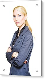 Confident Business Person Acrylic Print by Jorgo Photography - Wall Art Gallery