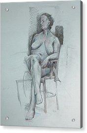 Confident Nude Acrylic Print by Mark Johnson