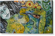 Conflict Acrylic Print by Claudia Cole Meek