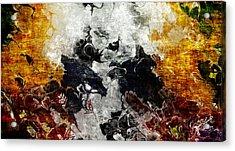 Conflict Acrylic Print by The Art Of JudiLynn