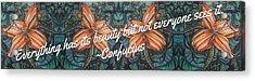 Confucius Beauty  Acrylic Print