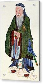 Confucius  Teacher And Philosopher Acrylic Print by English School